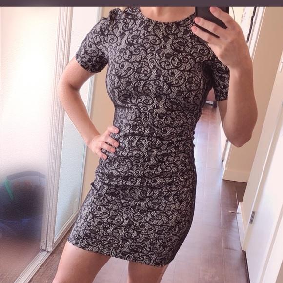 Aritzia Dresses & Skirts - Aritzia Black White Lace BodyCon Holiday Dress
